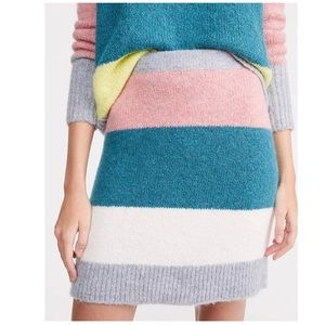 New Loft Striped Plushfuzz Sweater Skirt size …